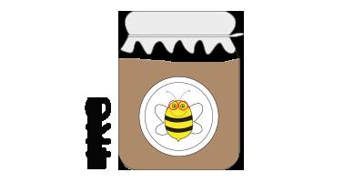 Colmena pequeña<br>4kg de miel de montaña