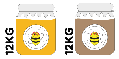 Big Hive<br>12kg of orange blossom honey + 12kg of mountain honey