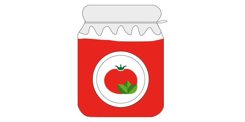 Tomato sauce with basil<br>(650gr)