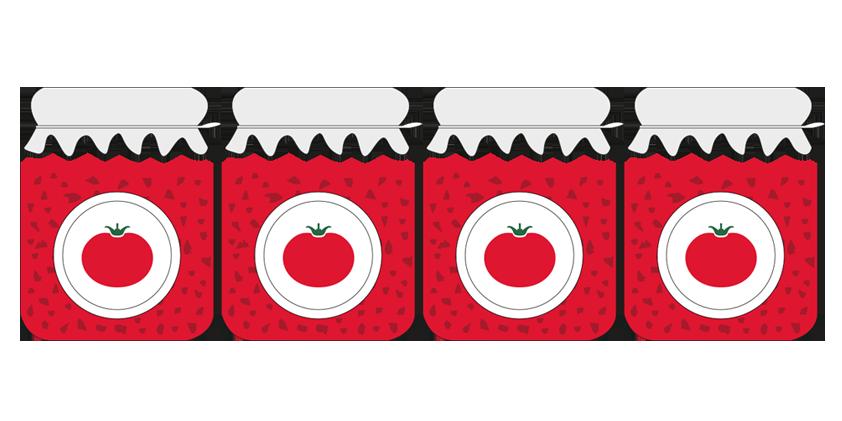 4x Confiture de tomates<br>(420g)